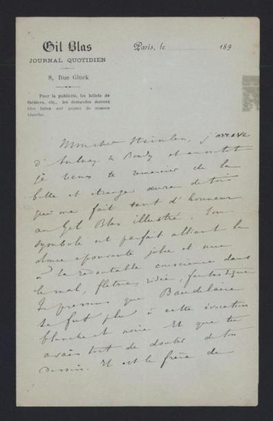 BOIS Jules (1868-1943), poète et romancier....