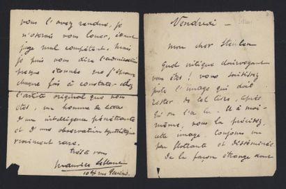 LEBLANC Maurice (1864-1941), écrivain. Lettre...