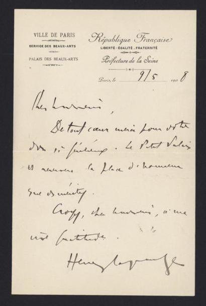 LAGRANGE Henri (1893 - 1915), journaliste....