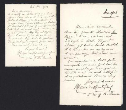 MONTEGUT Maurice (1855-1911), écrivain. Deux...