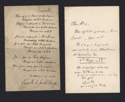 DE SAINTE CROIX Camille (1859-1915), homme...