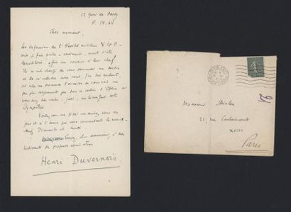 DUVERNOIS Henri (1875-1937), écrivain et...