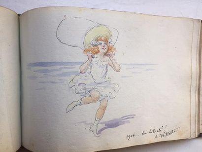Album amicorum composé par une jeune fille...