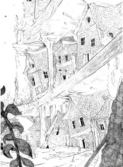Laurette Baron technique : crayon sur papier...
