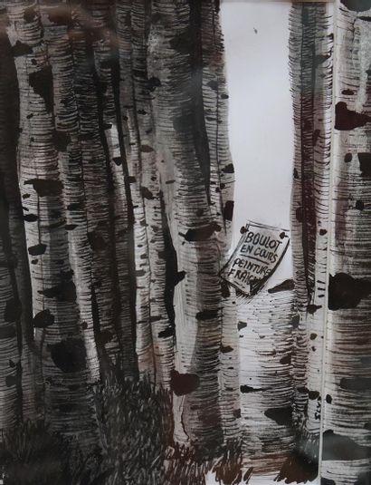 Sandra Rivaud technique : feutre et crayon...