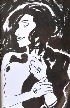 Claire Fauvel technique : encre sur papier...