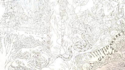 Loic Froissart technique : crayon sur papier...