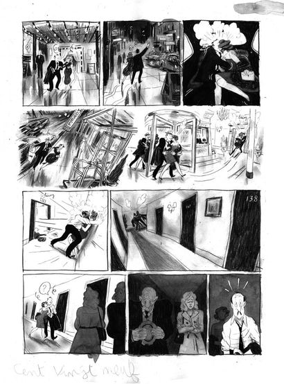 Loic Guyon planche 129 (original) titre :...