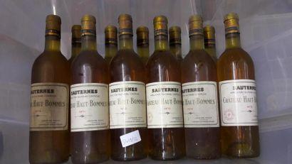 [VIN] 11 bts Chateau Haut-Bommes, Sauternes...