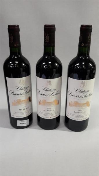 [VIN] 3 bouteilles Château Prieuré Lichine...