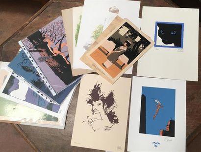 DIVERS AUTEURS Ensemble de lithographies...