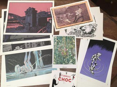 DIVERS AUTEURS. Ensemble de lithographies...