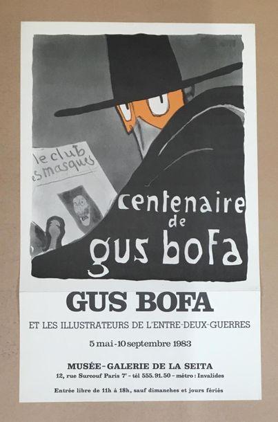 AFFICHE d'après Gus Bofa. Pliée au niveau...