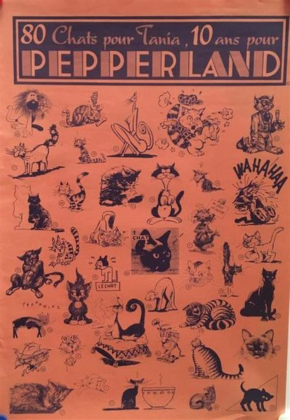 AFFICHES PEPPERLAND, sept affiches dont ...