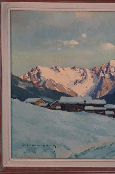 Charles Henry CONTENCIN Charles Henry CONTENCIN (1898-1955) Soir d'hiver à Molines...