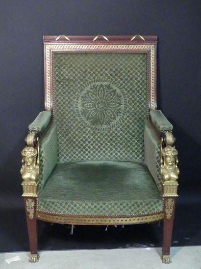 Important fauteuil d'apparat.