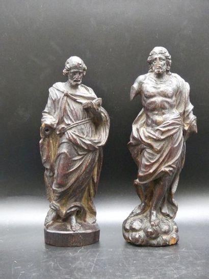 Paire de Saints en bois