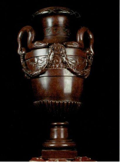 Paire de vases aux serpents Fin XVIIIème début XIXème siècle.