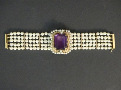 Bracelet en perles de 5 rangs