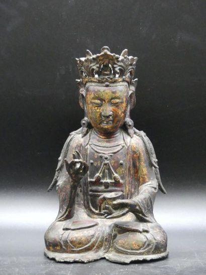 CHINE. Statuette. Dynastie Ming
