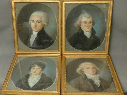 Suite de 4 portraits