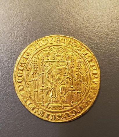 PHILIPPE VI de Valois (1328-1350). Chaise d'or (17 juillet 1346).