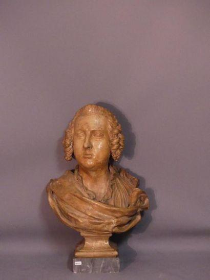 Buste en terre cuite XVIIIème siècle.
