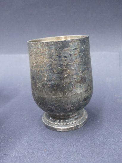 partie de ménagère en metal argenté Partie de ménagère en métal argenté comprenant...