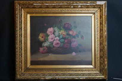 Ecole française de la fin du XIXème siècle, Bouquet de fleurs