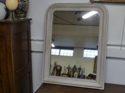 Miroir avec bois laqué blanc