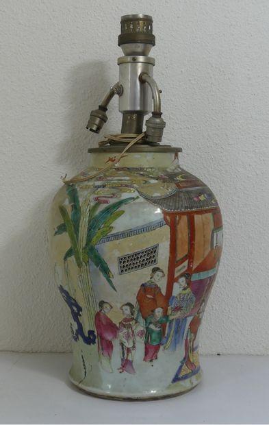 CHINE. Vase potiche