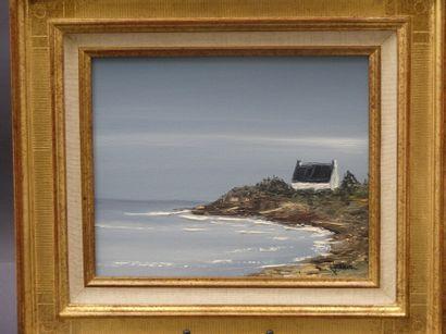 Robert JUTHIER , ambiance bretonne huile...