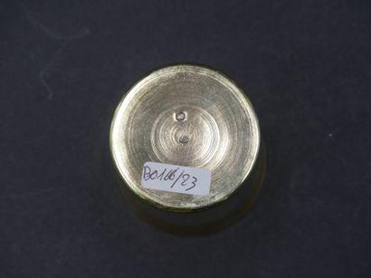 TIMBALE Timbale en vermeil poinçon vieillard. Hauteur : 7.5, cm