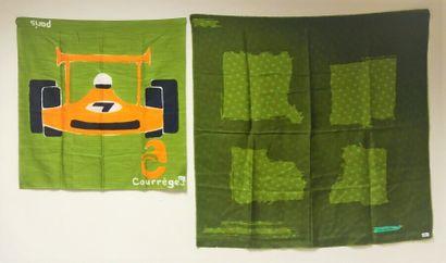 DIOR. Foulard en soie vert