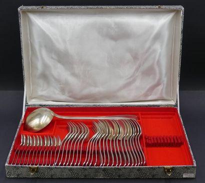 Ménagère de 37 pièces en métal argenté