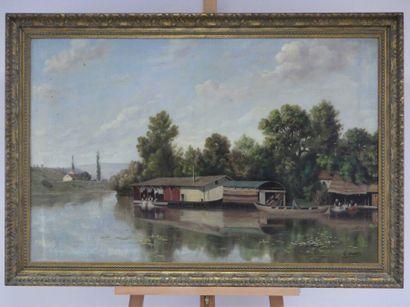 Vue des bords de Seine
