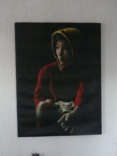 Ecole vietnamienne du XX ième siècle Maternité...