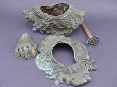 6 garnitures de billard en bronze