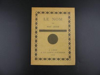 Max JACOB, Le Nom,  E.O.