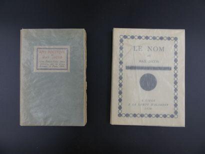 Max JACOB, Art Poétique. E.O. & Le Nom E.O.