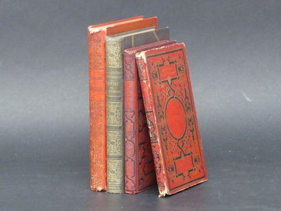 Réunion de 4 ouvrages , Bibliothèque des Ecoles et Familles.