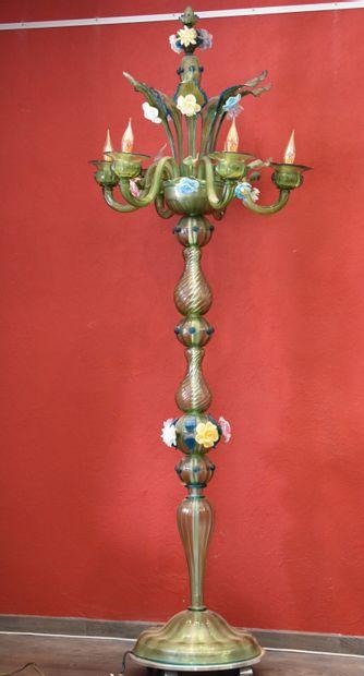 MURANO, Important lampadaire Vénitien