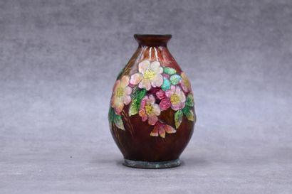 Camille Fauré (1874-1956), vase en cuivre...