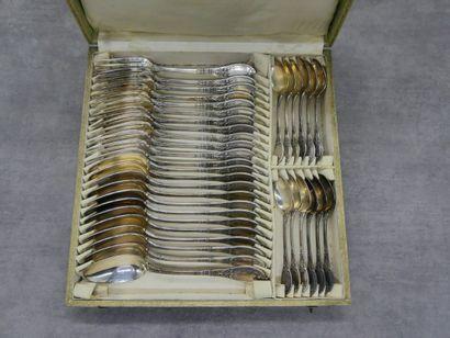 CAILAR BAYARD, Ménagère en métal argentée...