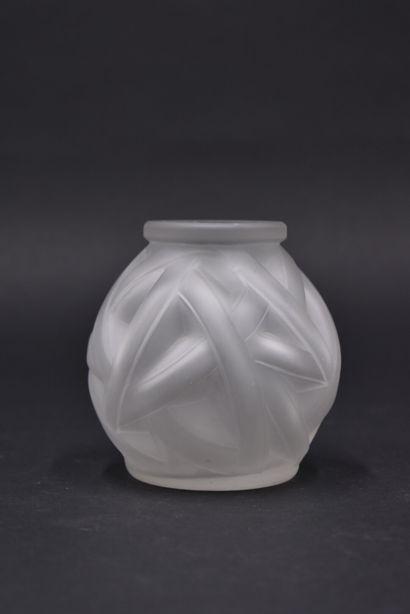 TRAVAIL FRANCAIS. Vase ovoïde publicitaire...