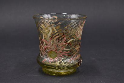 Émile GALLE (1864-1904). Vase à corps tubulaire...