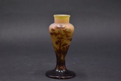 ETABLISSEMENTS GALLE (1904-1936). Vase balustre....