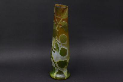 LEGRAS. Vase ovoïde sur talon légèrement...