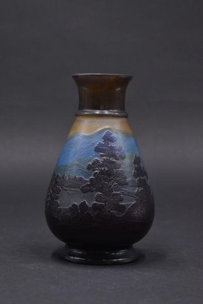 ETABLISSEMENTS GALLE (1904-1936). Vase ovoïde...