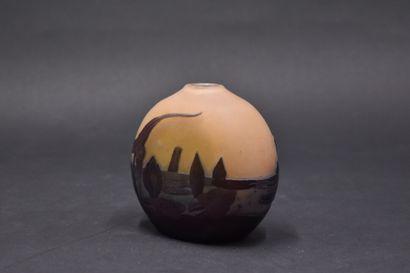 ETABLISSEMENT GALLE (1904-1936). Vase ovoïde...